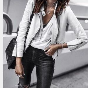 Urban Outfitters Jackets & Coats - Winter white Brave Soul white leather jacket!Small